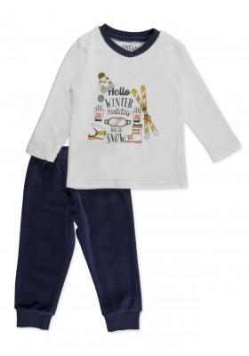 Pijama LOSAN para niño de terciopelo con estampado de motivos invernales