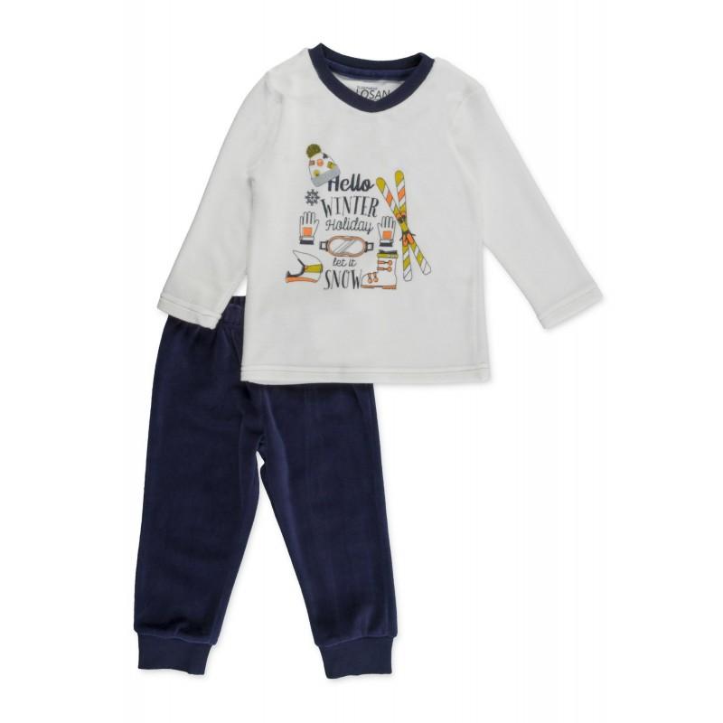 2019 mejor venta nuevo estilo de 2019 el precio se mantiene estable Compra Pijama LOSAN para niño de terciopelo con estampado de ...