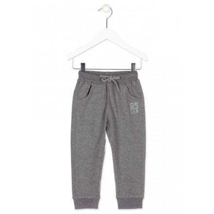 Pantalón LOSAN para niño de color gris de felpa