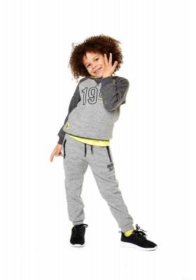 Pantalón LOSAN para niño de felpa con cintura interior de color amarillo