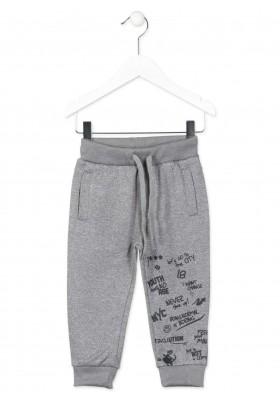 Pantalón LOSAN para niño de felpa de fantasía de color gris