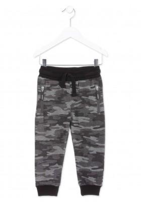 Pantalón LOSAN para niño de camuflaje de color gris