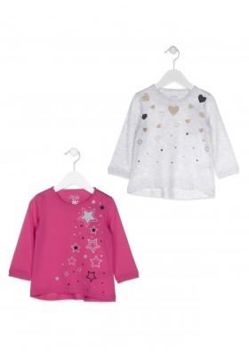Camiseta de manga larga LOSAN para niña y cuello redondo con corazones