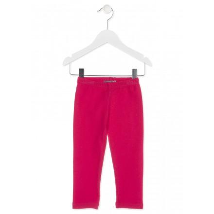 Legging largo LOSAN para niña de felpa color rojo