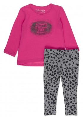 Conjunto LOSAN para niña de camiseta de punto gateado y leggins de felpa