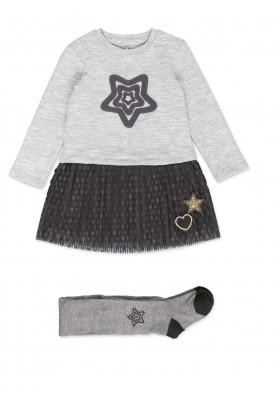 Conjunto de vestido LOSAN para niña combinado con falda de tul y leotardo
