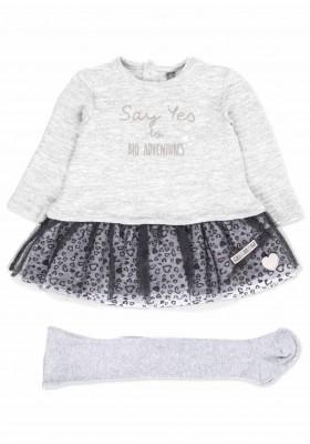Conjunto de vestido LOSAN para bebé niña combinado con tul y leotardo básico