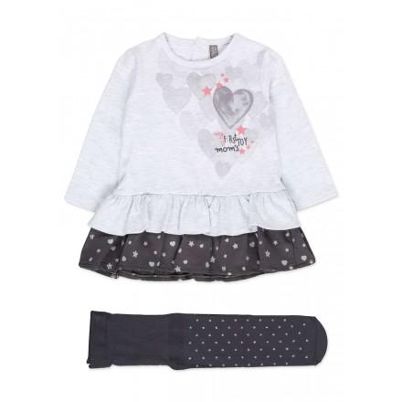 Conjunto de vestido LOSAN para bebé niña con falda de volantes y medias