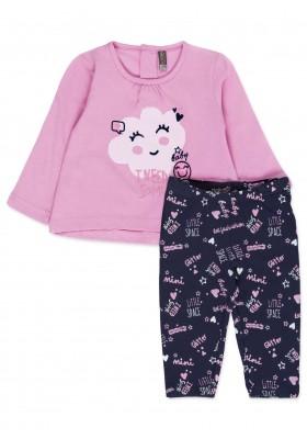 Conjunto de camiseta LOSAN para bebé niña con nube estampada y leggins