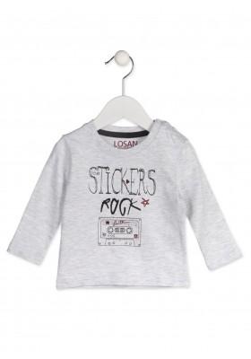 Camiseta de manga larga LOSAN para bebé niño con casette estampado