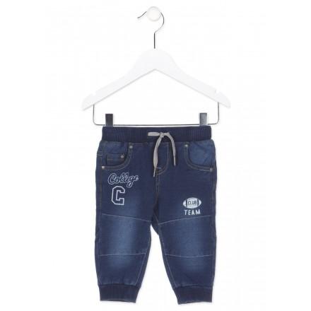 Pantalón LOSAN para bebé niño efecto vaquero con piezas