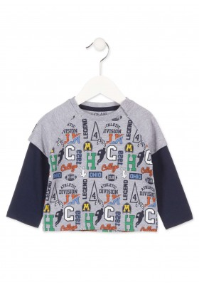 Camiseta manga larga LOSAN para bebé niño con manga corta simulada