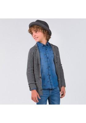 Camisa manga larga denim estampado Mayoral niño