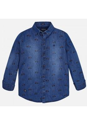 bd6be01f44 Comprar Camisa manga larga denim estampado Mayoral niño