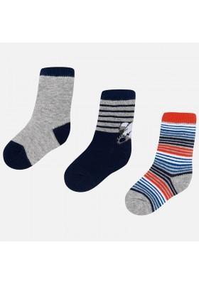 Set 3 calcetines rayas/liso Mayoral bebe niño
