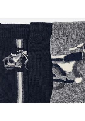 Set 3 calcetines liso/jacquar Mayoral niño