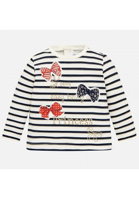 9e111cb8c Comprar Camiseta manga larga rayas MAYORAL bebe niña