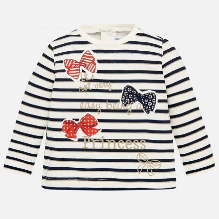 Camiseta manga larga rayas MAYORAL bebe niña