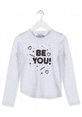 Camiseta LOSAN con tachuelitas de color negro para chica