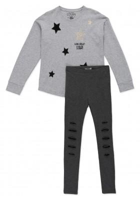 Conjunto LOSAN de camiseta de estrellas de terciopelo y leggins para chica