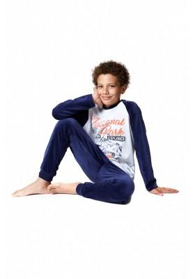 Pijama de terciopelo LOSAN con motivos montañeros para chico