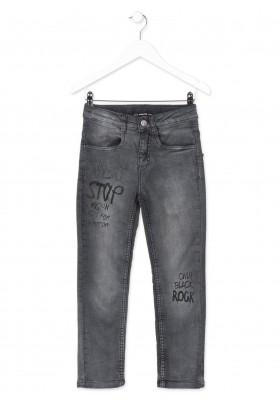 Pantalón LOSAN en tejido efecto vaquero de color gris para chico