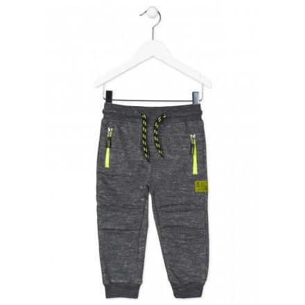 Pantalón de felpa LOSAN con rotos simulados para niño