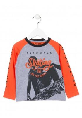 Camiseta manga larga LOSAN de color gris para niño