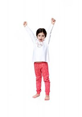Pijama LOSAN de algodón con gatito estampado para niña