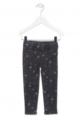 Pantalón LOSAN de color negro estampado con estrellas para niña