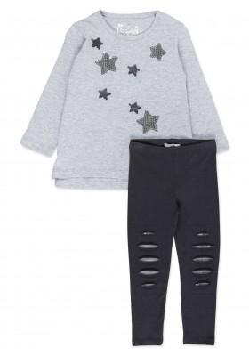 Conjunto LOSAN de camiseta con lentejuelas reversibles y leggins para niña