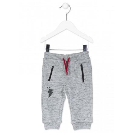 Pantalón LOSAN de algodón de color gris para bebé niño