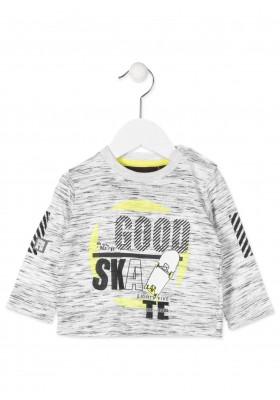 Camiseta manga larga LOSAN con estampado de rayas en codos para bebé niño