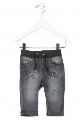 Pantalón pitillo imitación denim LOSAN de color gris para bebé niño