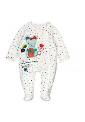 Pelele terciopelo de bebé niña BOBOLI