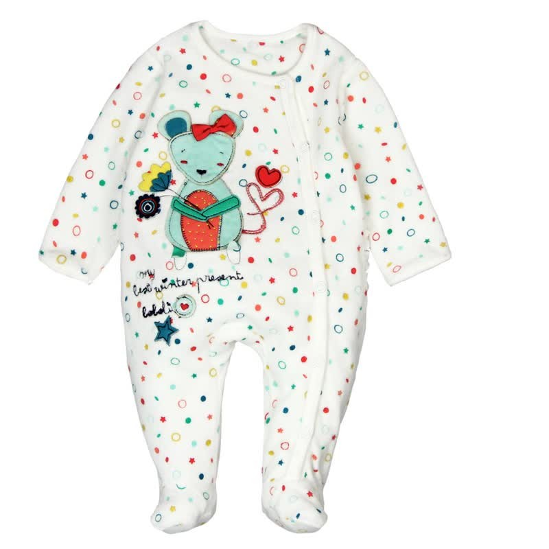 0e492f116 Pelele terciopelo de bebé niña BOBOLI. Loading zoom