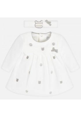 Vestido tundosado y diadema Mayoral bebe niña