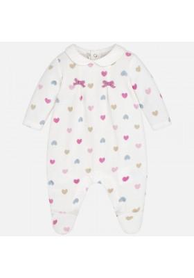 Pijama tundosado corazones Mayoral bebe niña