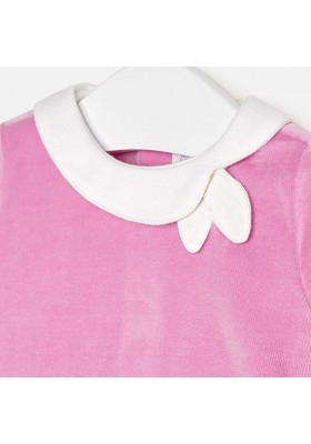 Vestido tundosado cenefa Mayoral bebe niña
