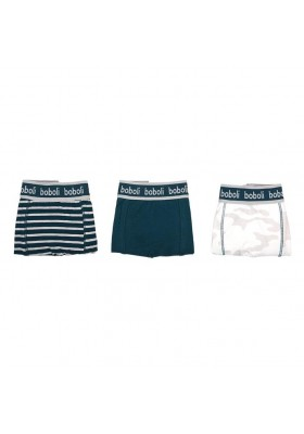Pack 3 boxers punto de niño BOBOLI