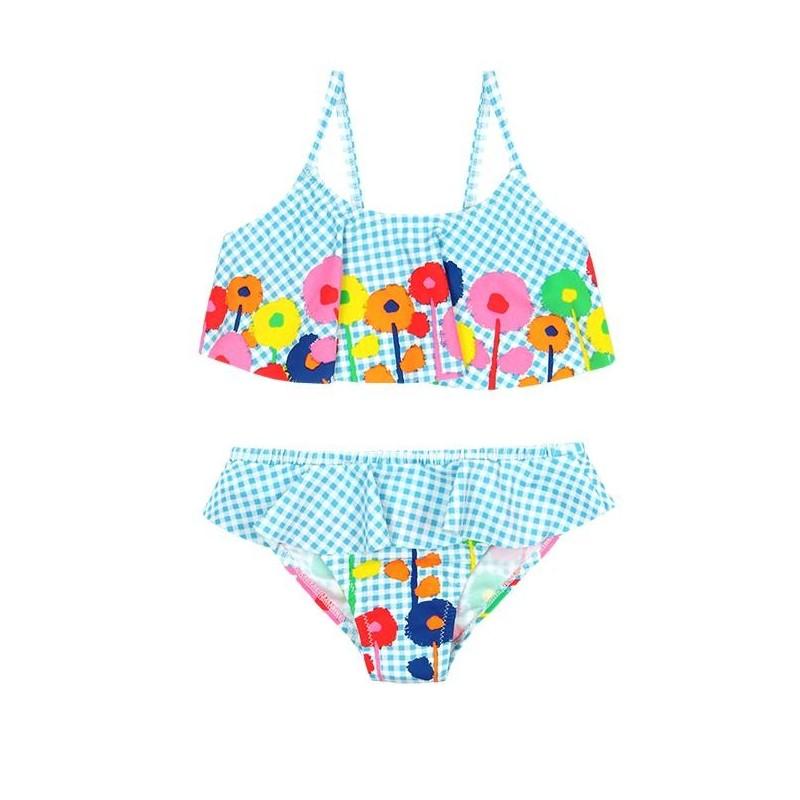 94dfee496ce Comprar Bikini cuadros vichy de niña BOBOLI