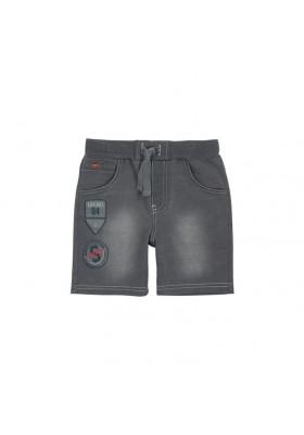 Pantalón corto felpa denim de niño BOBOLI