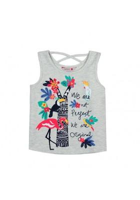 Camiseta manga corta punto elástico de niña BOBOLI