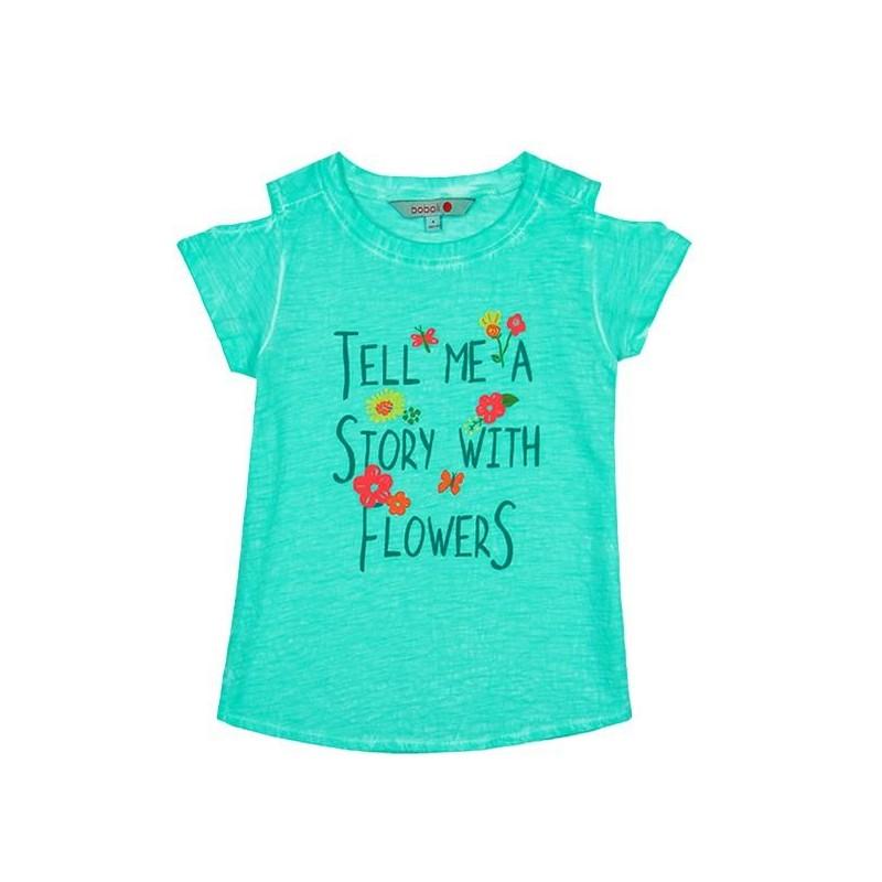 54883e0d7 Comprar Camiseta manga corta punto flamé de niña BOBOLI
