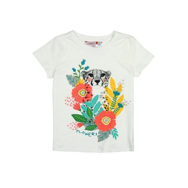 05f714f11a8b Comprar Camiseta manga corta punto flamé de niña BOBOLI
