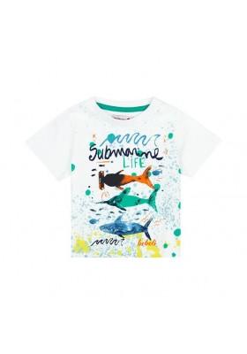 Camiseta manga corta punto flamé de bebé niño BOBOLI