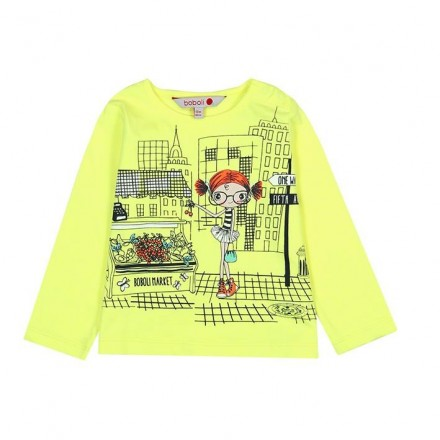 Camiseta manga corta punto liso de bebé niña BOBOLI