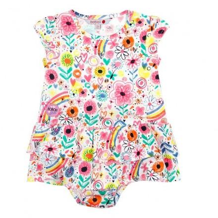 Vestido manga corta punto de bebé niña BOBOLI