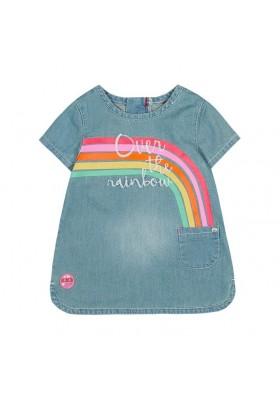 Vestido manga corta denim de bebé niña BOBOLI
