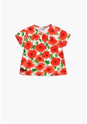 Camiseta manga corta punto elástico de bebé niña BOBOLI